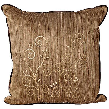 "Neera 17"" Square Earthtone Decorative Throw Pillow"