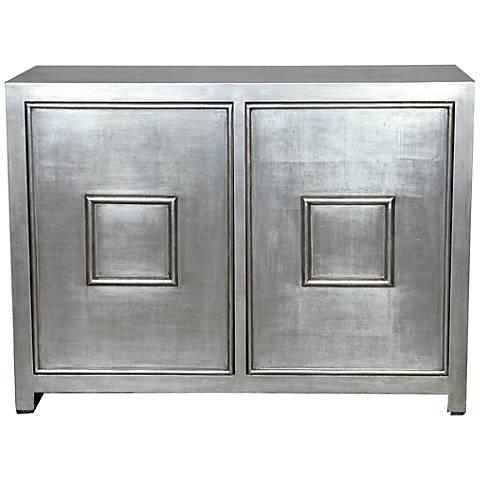 Port 68 Avenue Silver 2-Door Cabinet