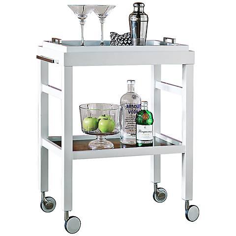 Port 68 Avalon White Bar Cart