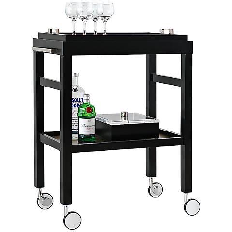Port 68 Avalon Black Bar Cart