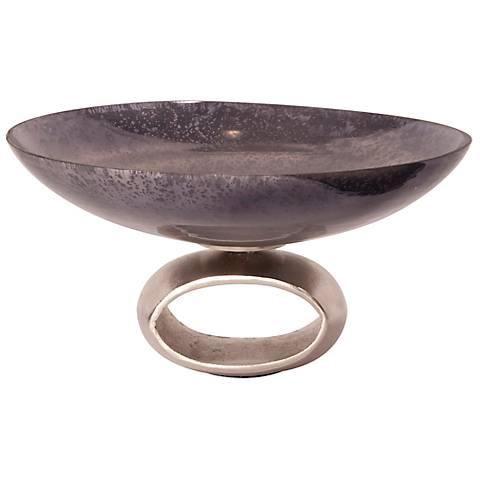 Howard Elliott Blue-Gray Antiqued Glass Bowl