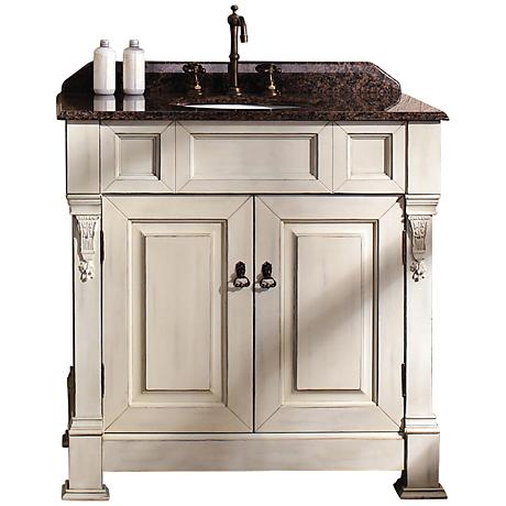 "James Martin Brookfield 35""W Cottage Tropical Bath Vanity"