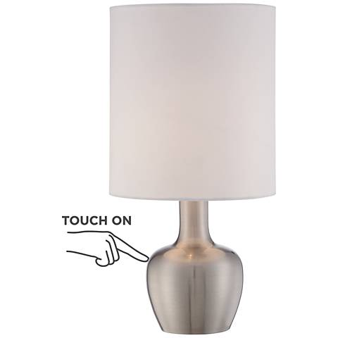 """Betsy Brushed Steel 15 1/4"""" High Modern Touch Table Lamp"""
