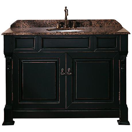 "James Martin Brookfield 48""W Black Tropical Bath Vanity"