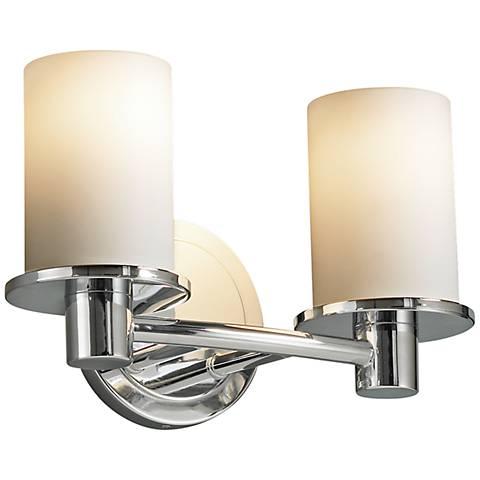 "Justice Design Rondo 12 1/4"" Wide Chrome Bath Light"