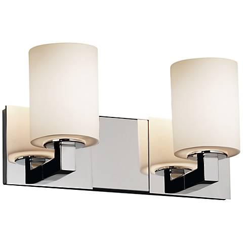 Justice design modular 15 wide chrome bath light 4d961 lamps plus - Justice design bathroom lighting ...