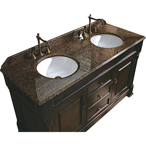 "James Martin Brookfield 60"" Wide Tropical Double Sink Vanity"