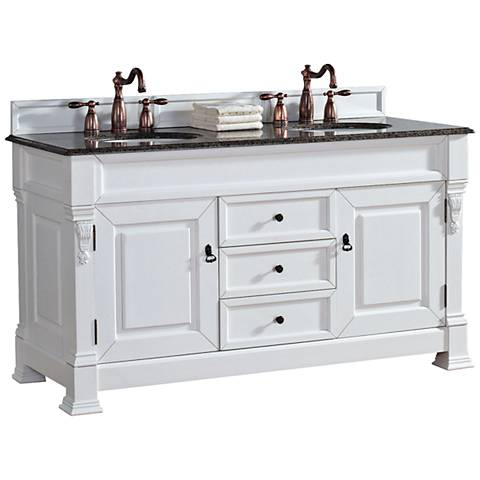 "James Martin Brookfield 60"" Cottage Tropical 2-Sink Vanity"