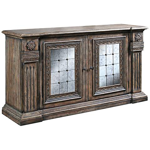 Pulaski Alexandreah Two-Tone Wood and Mirror Credenza