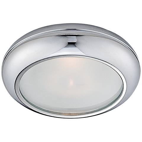 Eurofase Round Chrome and Frosted Glass Shower Trim