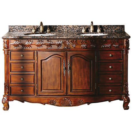 "James Martin Classico 60"" Wide Cherry Double Bath Vanity"