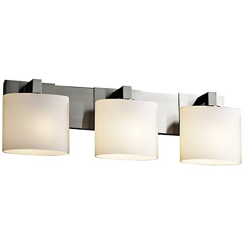 "Justice Design Modular 28"" Wide Brushed Nickel Bath Light"