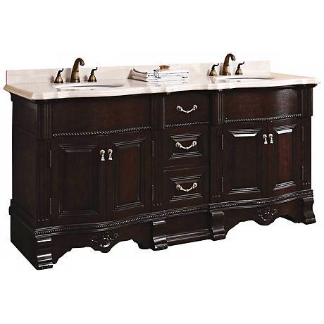 "James Martin Classico 72"" Wide Marble Double Bath Vanity"