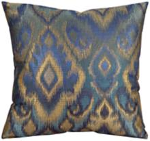 "Howard Elliott Opal Pacific 20"" Multi Blue Throw Pillow"
