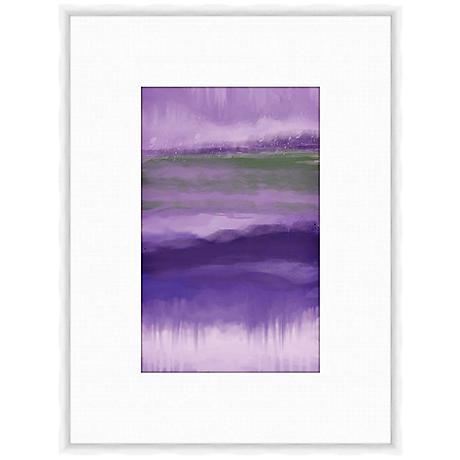 """Plum Abstract II 25 1/4"""" High Framed Giclee Wall Art"""
