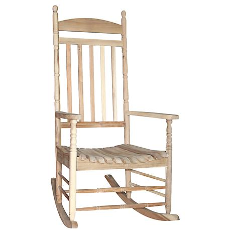 Porch Rocker Turned Post Unfinished Outdoor Rocking Chair