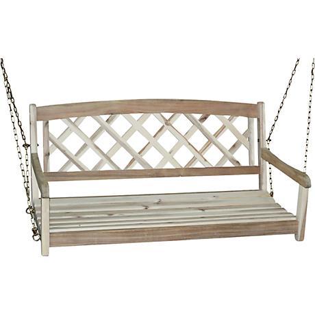 Acacia Wood X Back Porch Swing 4f728 Lamps Plus