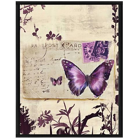 """Butterfly Postcard II 15 1/2"""" High Framed Giclee Wall Art"""
