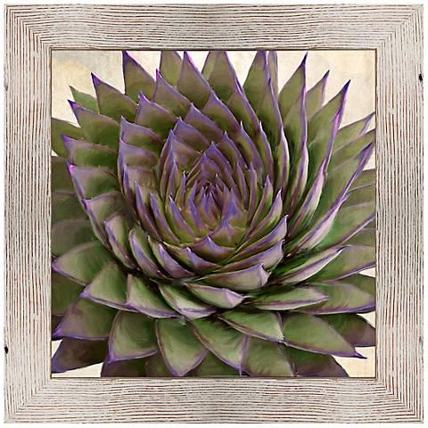 "Plum Aloe I 25 1/2"" Square Framed Giclee Wall Art"