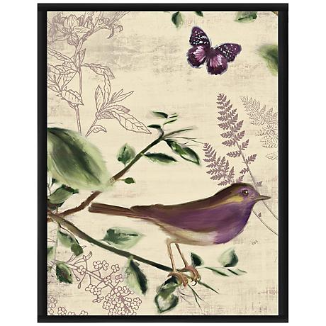 "Love Birds I 16 1/2"" High Framed Giclee Wall Art"