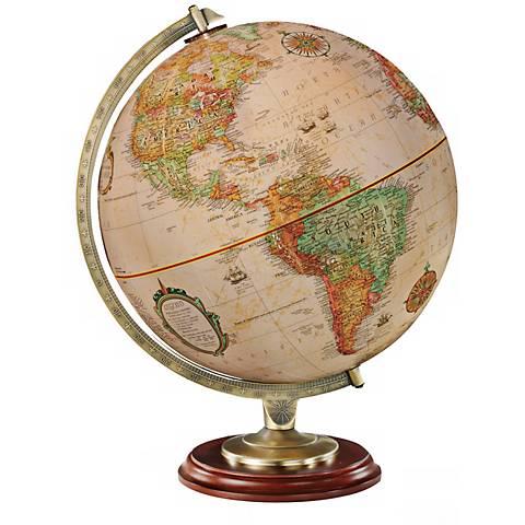 Kingston Antique Map Walnut Desk Globe