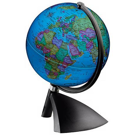 Terenne Illuminated Black Desk Globe