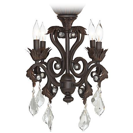 4-Light Oil-Rubbed Bronze Chandelier Ceiling Fan Light Kit