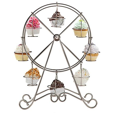 "Godinger Silver Ferris Wheel 18 3/4"" High Cupcake Holder"
