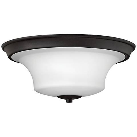 """Hinkley Brantley 17"""" Wide Textured Black Ceiling Light"""