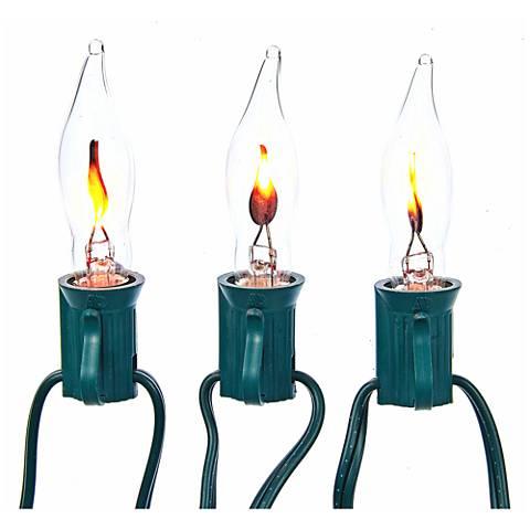 10-Light Flicker Flame String Light Set