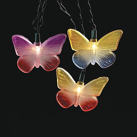 Butterflys 10-Foot Party String Light with 10 Lights
