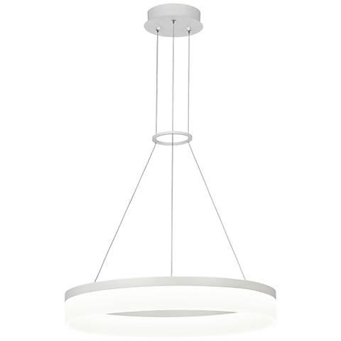 "Possini Euro Analla 23 3/4"" Wide Round LED Pendant Light"