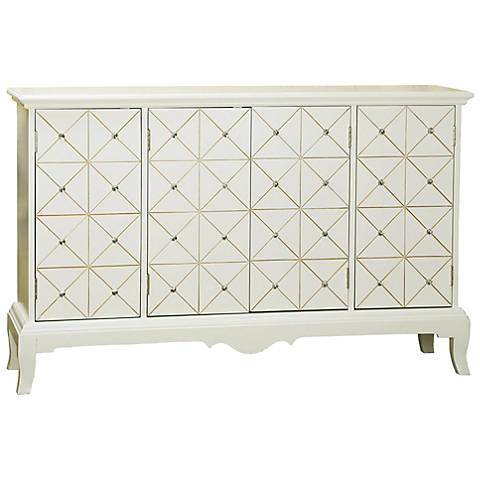 Pulaski Eva Golden Crystal 4-Door Credenza