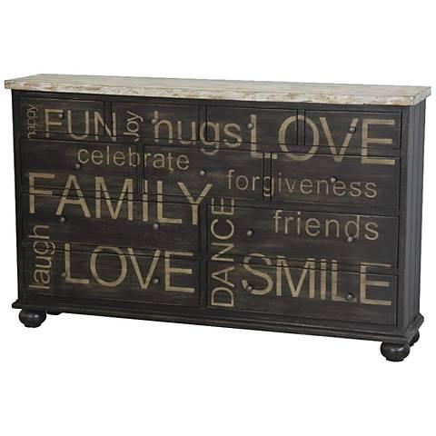 Pulaski Happy Words Two-Tone Wood Credenza