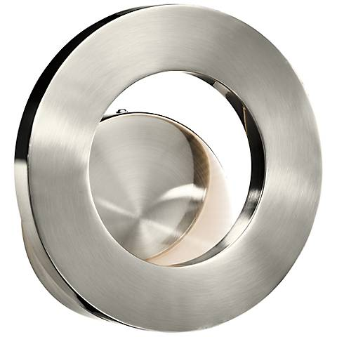 "Elan Fornello Brushed Aluminum 9 1/2"" LED Wall Sconce"