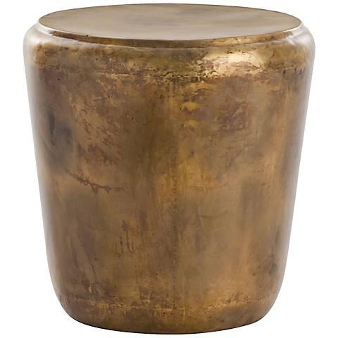 Arteriors Home Santiago Burnt Brass Drum End Table