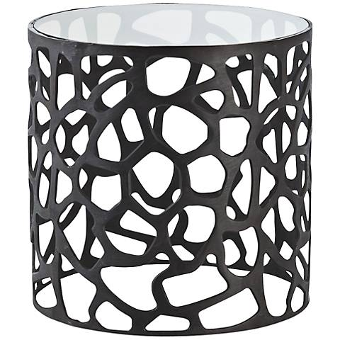 Arteriors Home Ennis Black Oxidized Iron Side Table