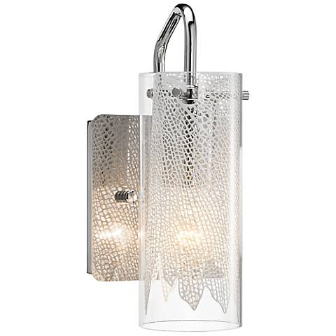 "Elan Krysalis 9 1/2"" High Chrome Wall Sconce"