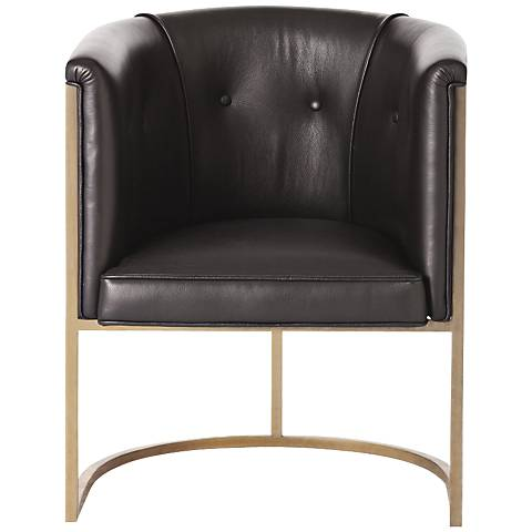 Arteriors Home Calvin Black Leather Chair