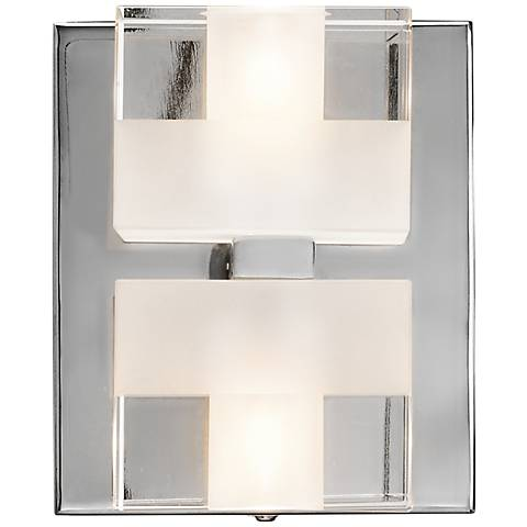 "Elan Considine 5 1/2"" High Frosted Glass Wall Sconce"