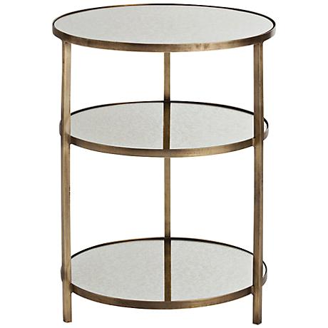Arteriors Home Percy Antique Brass End Table