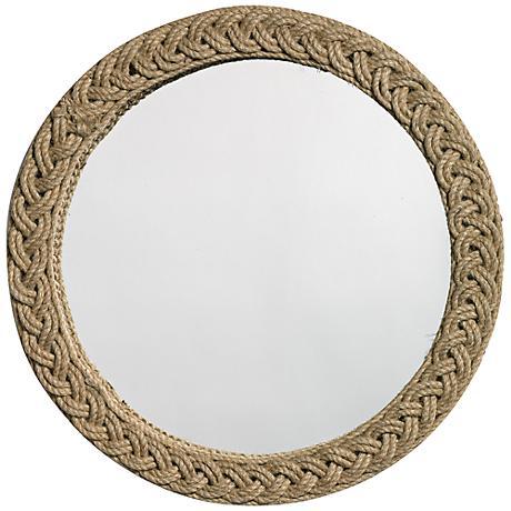 "Jamie Young Braided 20"" Round Jute Wall Mirror"