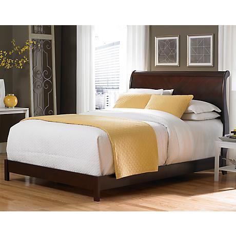 Bridgeport Sleigh Wood Bed