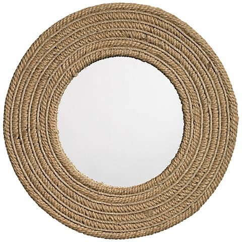 "Jamie Young Large 24"" Round Jute Wall Mirror"