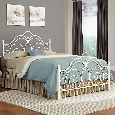 Rhapsody Glossy White Bed