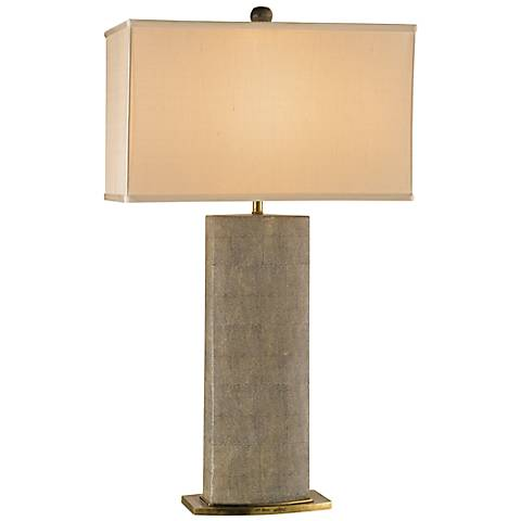 Rutherford Tan Sharkskin Table Lamp