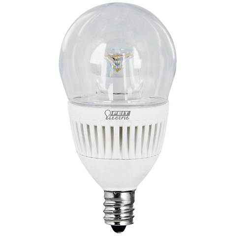 40W Equivalent Clear 4.8W LED Dimmable Candelabra Bulb