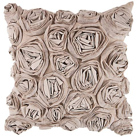 "Surya 18"" Square Taupe Decorative Pillow"