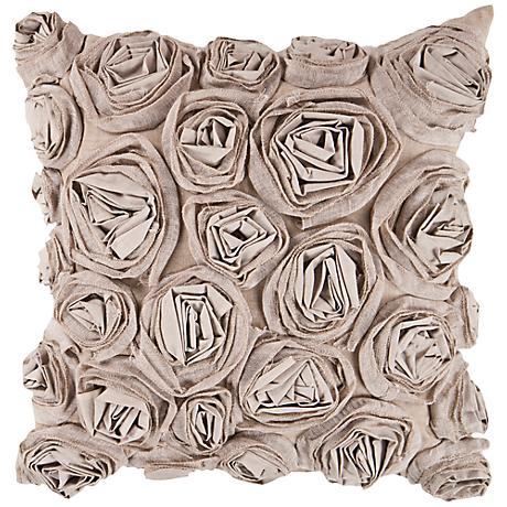 "Surya 18"" Square Taupe Decorative Pillow"