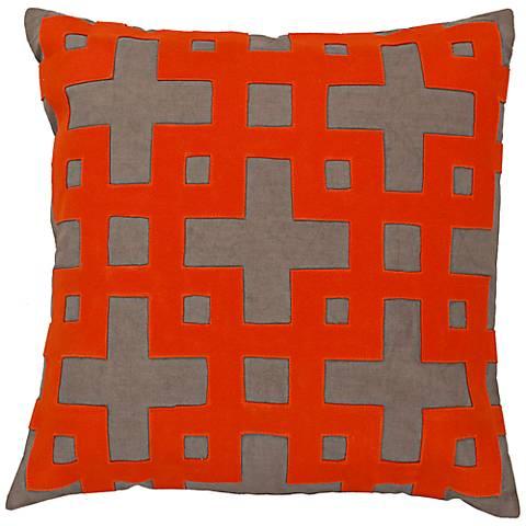 "Surya 18"" Square Olive Decorative Pillow"